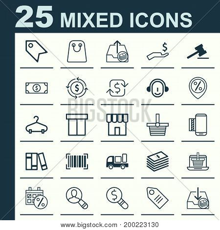 E-Commerce Icons Set. Collection Of Black Friday, Recurring Payements, Employee And Other Elements