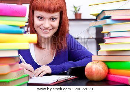 Teenage With  Books