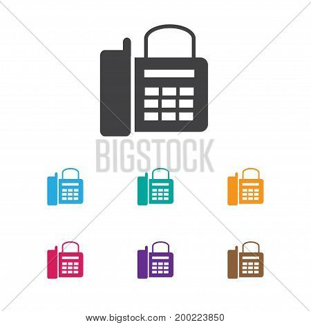 Vector Illustration Of Device Symbol On Home Cellphone Icon