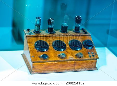 Vintage russian valve tube amplifier from 1960
