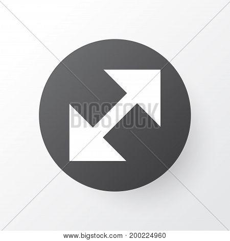 Premium Quality Isolated Change Element In Trendy Style.  Resize Icon Symbol.