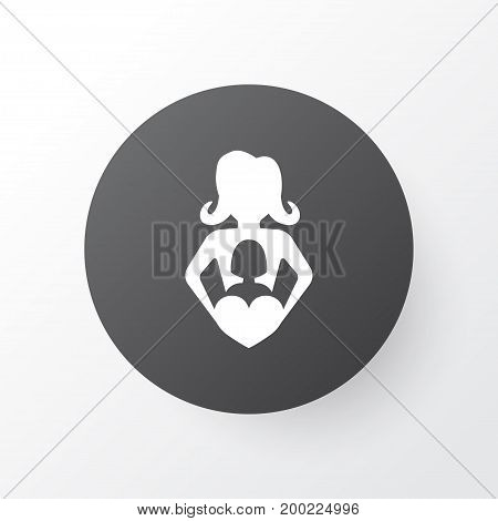 Premium Quality Isolated Nanny Element In Trendy Style.  Infant Icon Symbol.