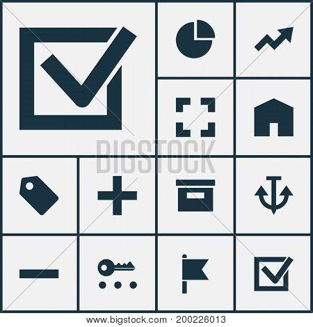 User Icons Set. Collection Of Home, Increase, Screenshot And Other Elements