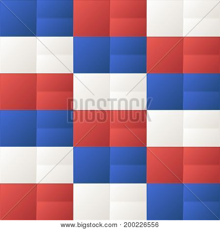 usa color style fashion paper art texture cubes geometric pattern design vector