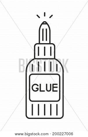 Glue line icon on white background. Vector illustration.