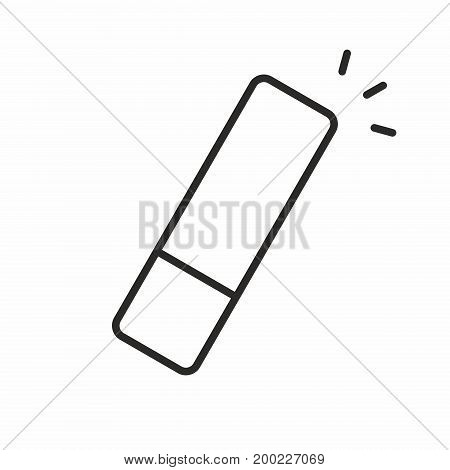 Eraser line icon on white background. Vector illustration.