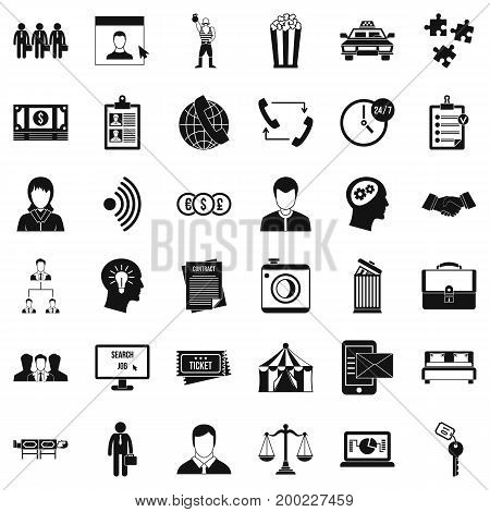Conformity icons set. Simple style of 36 conformity vector icons for web isolated on white background