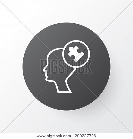 Premium Quality Isolated Human Mind Element In Trendy Style.  Problem Solving Icon Symbol.