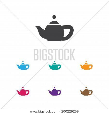 Vector Illustration Of Cook Symbol On Teapot Icon