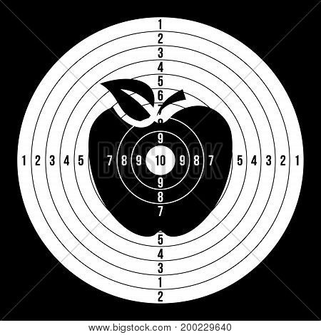 Shooting Target Vector. Paper Shooting Target For Shooting Competition. Illustration