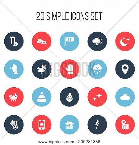 Set Of 20 Editable Air Icons. Includes Symbols Such As Asterisk, Goat, Home And More