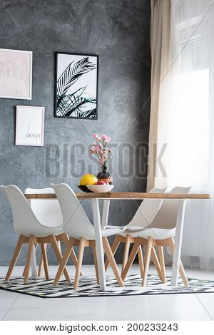 Decorative Vase On Dining Table