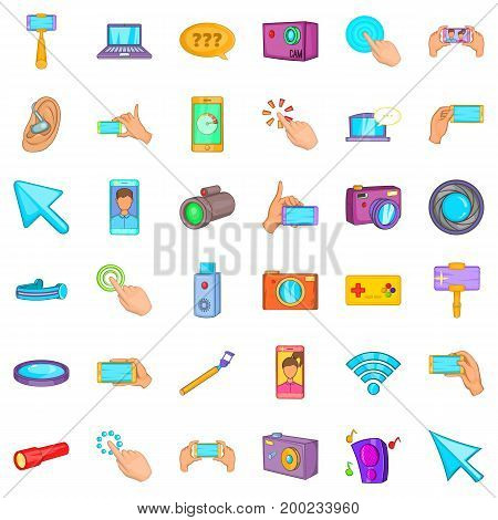 Working device icons set. Cartoon style of 36 working device vector icons for web isolated on white background