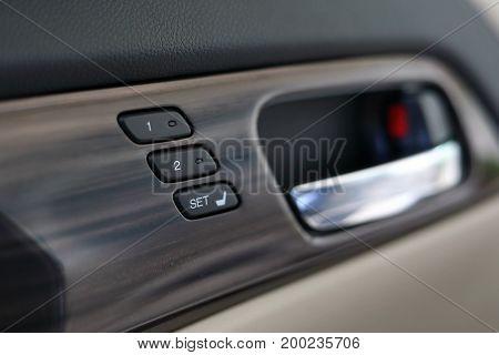 Memory Seat Technology Inside Luxury Vehicle Car