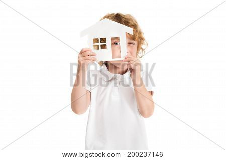 Kid With House Model