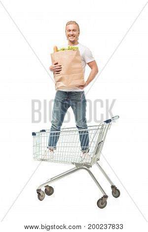 Man With Paper Shopping Bag