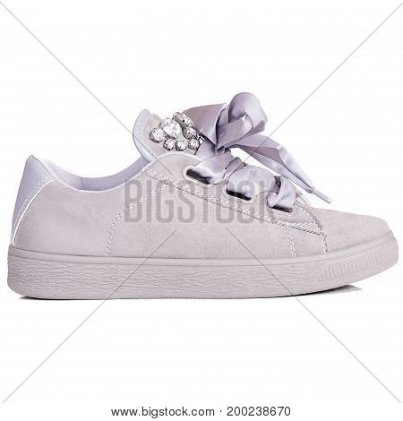 Sport sneakers women isolated on white background