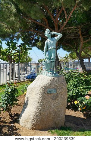 Sculpture In Cambrils City, Spain