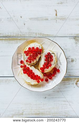 Crostinis With Red Currants