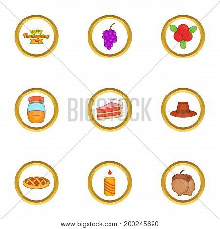 November holiday icons set. Cartoon illustration of 9 November holiday vector icons for web design