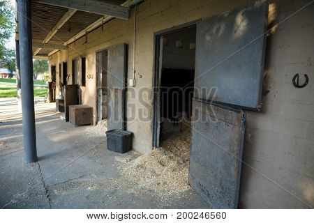 Empty large horse stable
