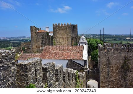 Obidos Castle In Portugal