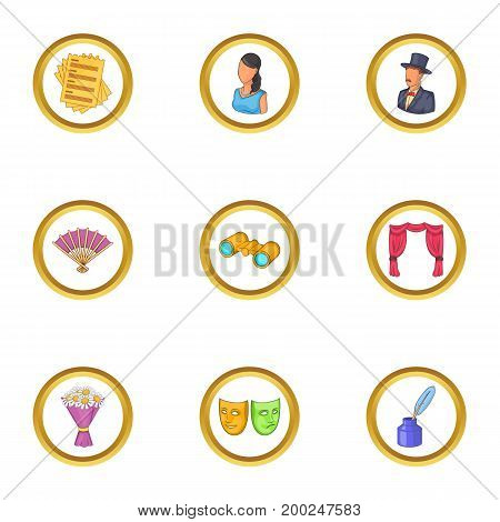 Represent icons set. Cartoon illustration of 9 represent vector icons for web design