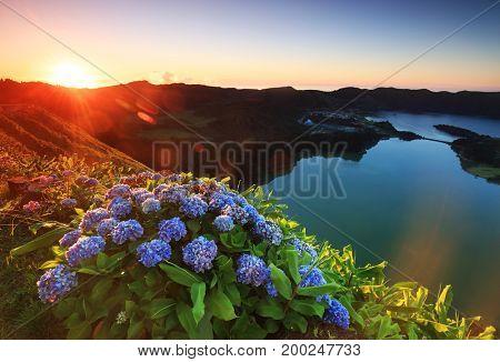 Landscapes of Sete Cidades, Sao Miguel Island, Azores, Portugal, Europe
