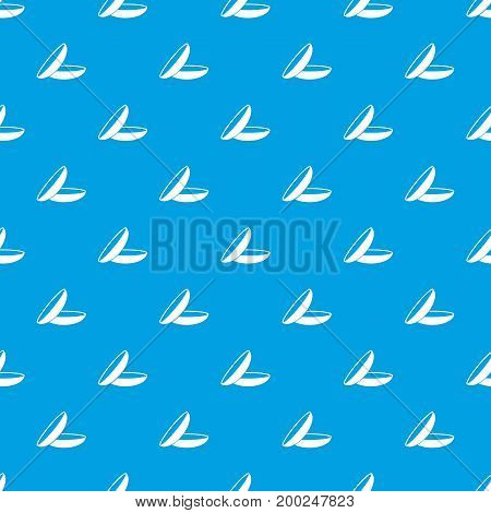 Contact lenses pattern repeat seamless in blue color for any design. Vector geometric illustration