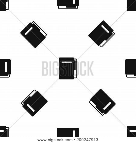 File folder pattern repeat seamless in black color for any design. Vector geometric illustration