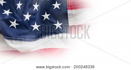 Close-up full frame of American flag