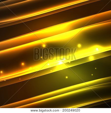 Energy lines, glowing waves in the dark, abstract background. business or technology presentation design template, brochure or flyer pattern, or geometric web banner