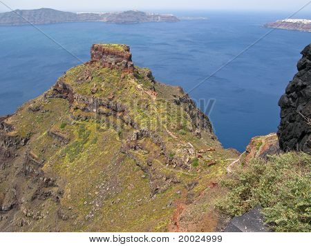 Coast Of Santorini In Greece