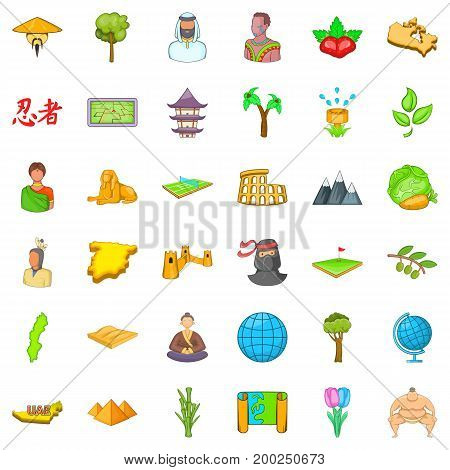 Save the earth icons set. Cartoon style of 36 save the earth vector icons for web isolated on white background