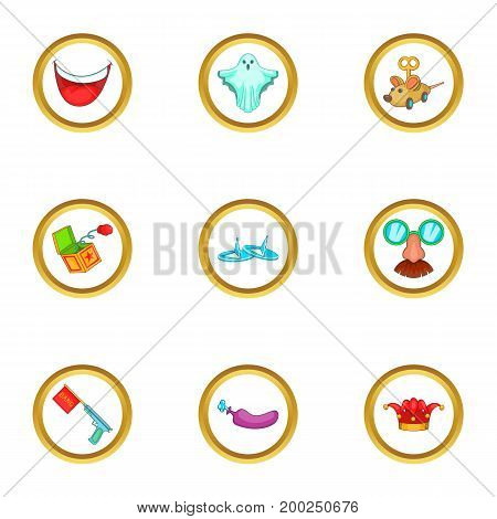 Holiday icons set. Cartoon illustration of 9 holiday vector icons for web design