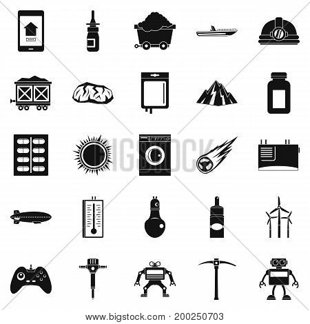 Software icons set. Simple set of 25 software vector icons for web isolated on white background