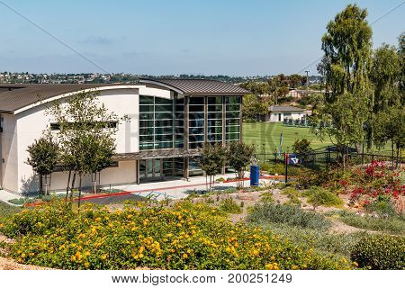 CHULA VISTA, CALIFORNIA - JUNE 30, 2017:  The Easton Archery Center of Excellence, located at the Chula Vista Elite Athlete Training Center, a facility built in 1995 for training Olympic athletes.