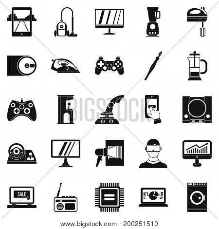 Mobile phone icons set. Simple set of 25 mobile phone vector icons for web isolated on white background