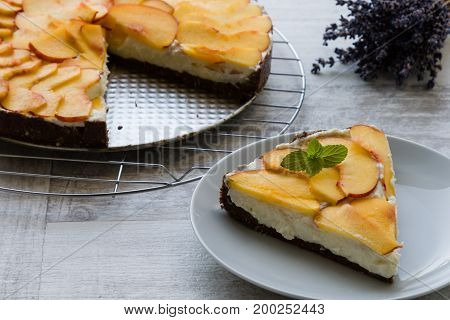 Cheesecake With Peach
