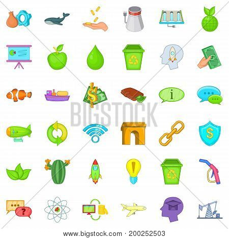 Eco house icons set. Cartoon style of 36 eco house vector icons for web isolated on white background