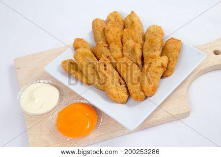 Deep fried Shrimps ebi tempura japanese cuisine