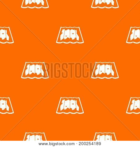 Map pattern repeat seamless in orange color for any design. Vector geometric illustration