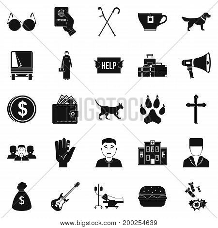 Subscription icons set. Simple set of 25 subscription vector icons for web isolated on white background