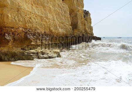Senhora Da Rocha Beach on the Algarve in Portugal