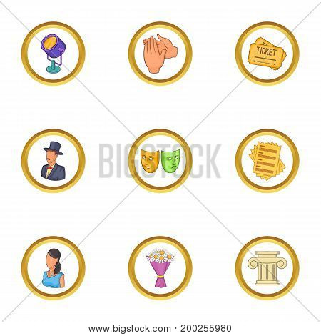 Comedy icons set. Cartoon illustration of 9 comedy vector icons for web design