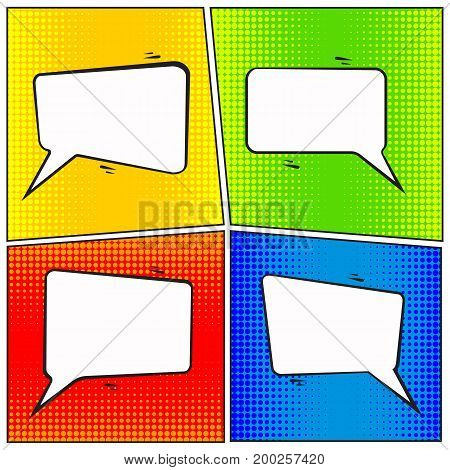 Comic speech bubbles on grunge background vector, EPS 10