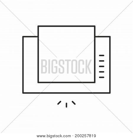 Extractor hood line icon on white background. Vector illustration.