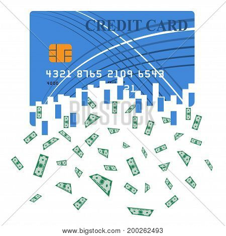 Credit or debit card which is transformed into cash. Translation from the electronic form of money into bills. Large sum. A huge win