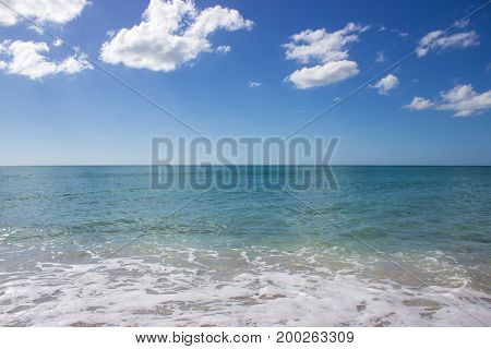 horizon of the Gulf of Mexico on a bright day