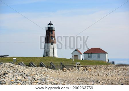 Point Judith Lighthouse was built in 1857 in Narragansett, Rhode Island, USA. This building was registered National Historic Place since 1988.